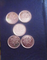 2012 CANADA FAREWALL 1 CENT LOT OF 5