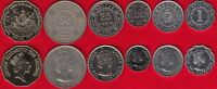 BELIZE SET OF 6 COINS: 1 CENT   1 DOLLAR 1980 2010