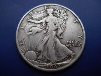 BETTER DATE 1943-D WALKING LIBERTY HALF IN VF CONDITION. 1