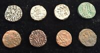 LOT OF 8 DIFFERENT BULL & HORSEMAN JITALS C.1100 1300 AD   FROM USA