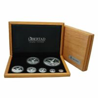 2018 MEXICO 7 PC. BOXED SET SILVER PROOF LIBERTAD WITH COA ONLY 125 MADE PRESALE