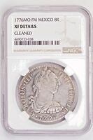 1776MO FM MEXICO NGC XF SILVER 8 REALES.99C