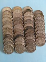 LOT OF 45 CANADIAN SILVER HALF DOLLARS  50C  NO RESERVE
