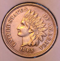 1865 P INDIAN HEAD PENNY CENT