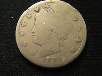 1890 LIBERTY V NICKEL TUFF DATE IN ANY GRADE PLEASE NOTE DIG ON REVERSE