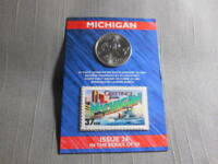2004 US MINT STATE OF MICHIGAN QUARTER 'D'  US POSTAL 37 CENT STAMP SEALED ISSUE
