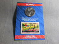 2004 US MINT STATE OF IOWA QUARTER 'D'  US POSTAL 37 CENT STAMP SEALED ISSUE