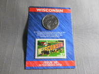 2004 US MINT STATE WISCONSIN QUARTER 'D'  US POSTAL 37 CENT STAMP SEALED ISSUE