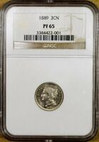 1889 NGC PF65  PR65  THREE CENT NICKEL
