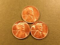 1948 P D S  LINCOLN CENTS  UNCIRCULATED / BU