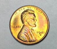 1945 S LINCOLN WHEAT CENT - BU - SHIPS FREE