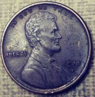 1915-S LINCOLN WHEAT CENT ABOUT UNCIRCULATED DETAILS