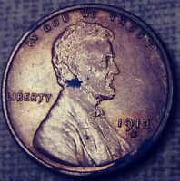 1913-S LINCOLN WHEAT CENTABOUT UNCIRCULATED DETAILS