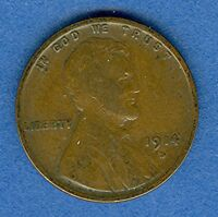 1914-D LINCOLN WHEAT CENT 1C VF   KL064