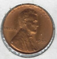 1937 P UNC RED LINCOLN WHEAT CENT