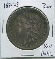 1884-S MORGAN DOLLAR  KEY DATE US MINT SILVER COIN