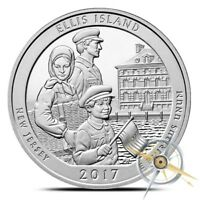 2017 ELLIS ISLAND NATIONAL MONUMENT 5 OZ 90 SILVER ATB AMERICA THE BEAUTIFUL UNC