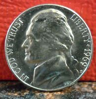BEAUTIFUL BU 1969 D JEFFERSON NICKEL KEY READY FOR A COLLECTION