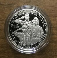 2010 BOY SCOUT OF AMERICA CENTENNIAL SILVER DOLLAR COMMEMORATIVE