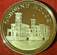 LARGE GOLD TONED 1977 CAMEO PROOF MEDAL OSBORNE HOUSE   SILVER JUBILEE    9700