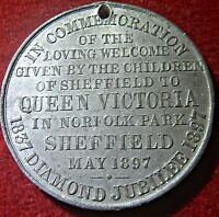 1897 VICTORIA'S VISIT TO NORFOLK PARK SHEFFIELD STRONG YORKSHIRE INTEREST 5586