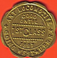 1887 UNION PACIFIC RAIL ROAD 1ST CLASS PASS. PROBABLY REPRO. 5419