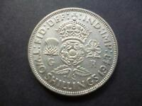 1943 TWO SHILLING COIN IN GOOD USED CONDITION GEORGE 6TH .500 SILVER FLORIN