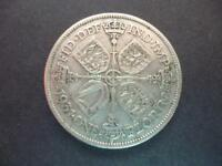 1931 FLORIN COIN IN GOOD USED CONDITION GEORGE 5TH .500 SILVER FLORIN COIN
