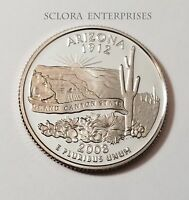 2008 S ARIZONA   CLAD PROOF  STATE QUARTER