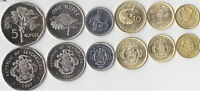 SEYCHELLES 1 CENT TO 5 RUPEES SET COINS 6PCSYEAR OF RANDOM