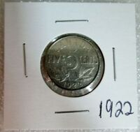 CANADIAN 1922 NICKEL  MINTAGE 5 CENTS 1922   NICE GEORGE THE FIFTH COIN