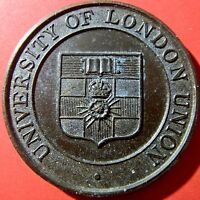 1972 UNIVERSITY OF LONDON UNION. 39 MM BRONZED MEDAL  1168