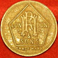 R HOVENDEN & SONS 3D BARBERS TOKEN S. A. AUSTRALIA N.Z.  BRITISH COLONIES 9313