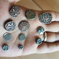 47 LOT OF 11 OLD RARE ANTIQUE ISLAMIC UMAYYAD SILVER & BRONZ