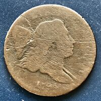 1794 LIBERTY CAP HALF CENT 1/2 FLOWING HAIR  GRADE  EARLY DATE 8713