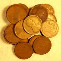 PARTIAL ROLL  23 COINS  1917 P PHILADELPHIA LINCOLN WHEAT CENTS FROM COLLECTION