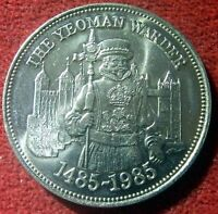 1985 MEDAL CELEBRATING  500TH ANNIVERSARY OF YEOMAN WARDERS  BEEFEATERS  9415