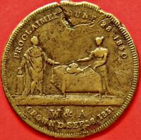 CORONATION OF WILLIAM IV AND ADELAIDE. 1831. BRASS MEDAL BHM 1506.   3071
