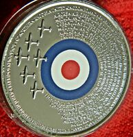 75TH ANNIVERSARY OF THE BATTLE OF BRITAIN ENCAPSULATED CAMEO PROOF MEDAL  9750