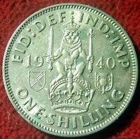1940 SILVER SCOTTISH SHILLING ALMOST UNCIRCULATED   9443