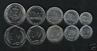 VENEZUELA 10 20 50 100 500 BOLIVAR 1999 2002 ARMS UNC 5V COIN MONEY COMPLETE SET