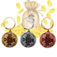 BITCOIN CHAIN METAL KEYCHAIN KEY RING KEYRING PHYSICAL ROSE GOLD SILVER BTC CH