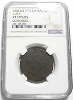 1803 DRAPED BUST LARGE CENT 1C S262 KEY DATE EXTRA FINE  $ NGC R3 SM DATE SM FRACTION