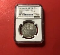 EGYPT UNC 10 PIASTRES 1920H  GRADED BY NGC MS61 ..GOOD OPPORTUNITY.