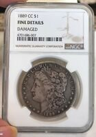 1889 CC MORGAN SILVER DOLLAR BETTER CARSON CITY DATE NGC FINE DETAILS