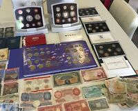 JOB LOT PROOF COINS BANKNOTES ETC.