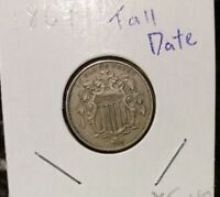 1869 SHIELD NICKEL TALL DATE  XF NICE COIN  CHERRYPICKERS GUIDE