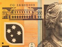 2016 AUS $50 NOTE WITH GREAT RADAR NUMBER    900009    PERF