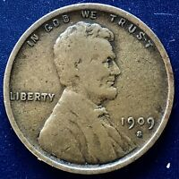 1909 S VDB WHEAT PENNY LINCOLN CENT 1C  KEY DATE SAN FRANCIS