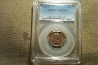 GORGEOUS MINT STATE 1919-S MINT STATE 63 RED/BROWN LINCOLN CENT GRADED BY PCGS